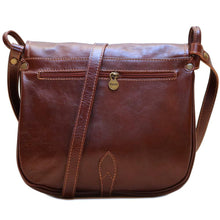 Load image into Gallery viewer, Leather Saddle Bag Floto Procida back