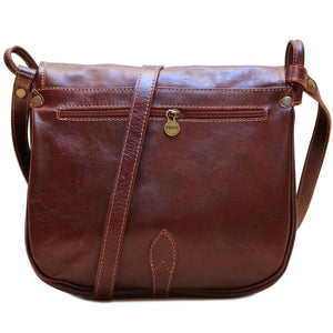 Leather Saddle Bag Floto Procida back