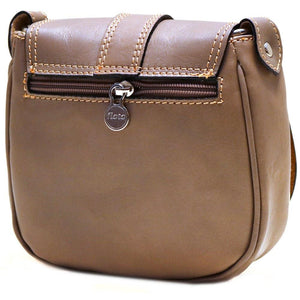leather saddle cross body bag