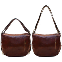 Load image into Gallery viewer, Leather Saddle Hobo Satchel Bag Roma