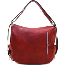 Load image into Gallery viewer, Leather Saddle Hobo Satchel Bag Floto Roma red