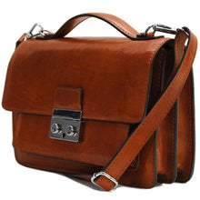 Load image into Gallery viewer, leather handbag satchel floto