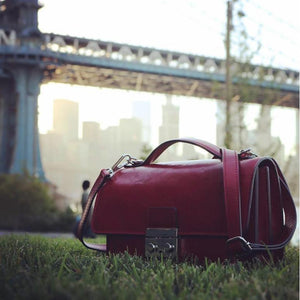 leather handbag satchel floto