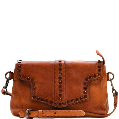 Floto Italian Leather Bag Trastevere Satchel Brown