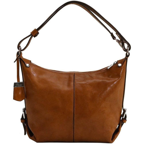 Floto Italian Leather Convertible Cross Body Capri Women's Tots Shoulder bag olive brown