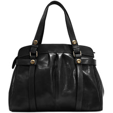Load image into Gallery viewer, leather shoulder handbag floto milano black