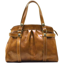 Load image into Gallery viewer, Leather Shoulder Bag Floto Milano Olive Brown