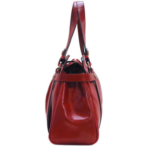 leather shoulder handbag floto milano shoulder bag red end