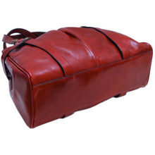 Load image into Gallery viewer, leather shoulder handbag floto milano shoulder bag red bottom