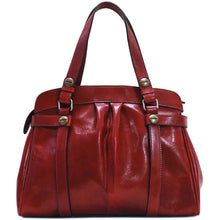 Load image into Gallery viewer, leather shoulder handbag floto milano shoulder bag red