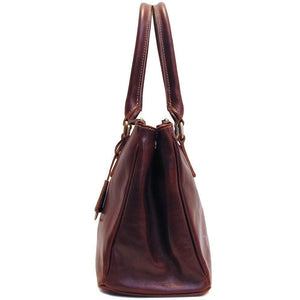 leather handbag floto roma satchel