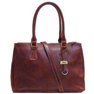 Floto Italian Leather Roma Satchel Shoulder Bag Women's