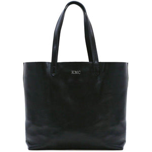 leather shoulder tote bag floto piazza monogram black