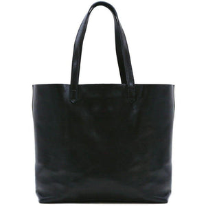 Floto Italian leather shoulder tote bag piazza women's handbag black
