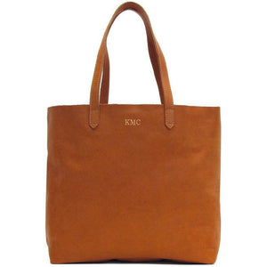 leather shoulder tote bag floto piazza monogram tan