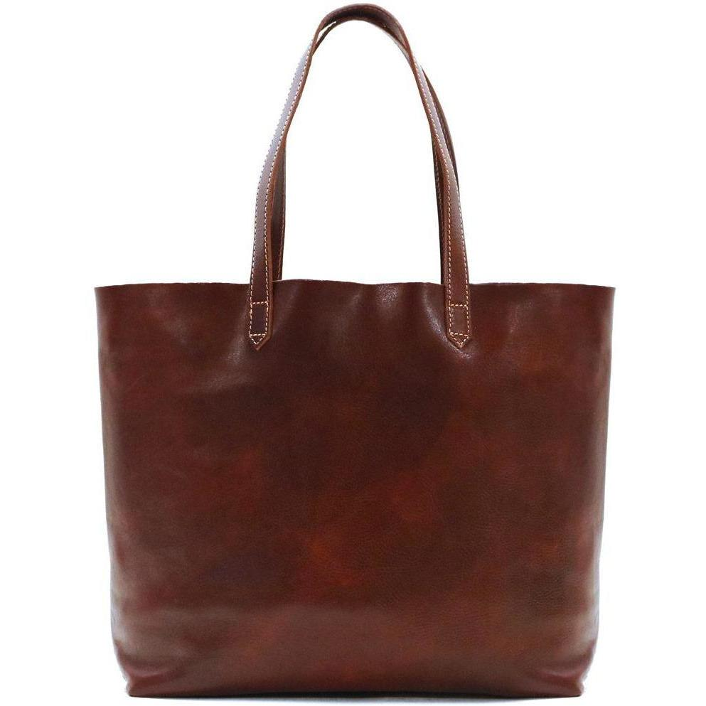 Floto Italian leather shoulder tote bag piazza women's handbag brown
