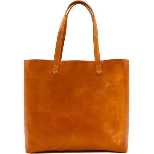 Floto Italian leather shoulder tote bag piazza women's handbag yellow
