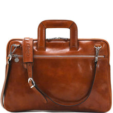 Load image into Gallery viewer, leather slim briefcase firenze floto
