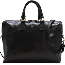 Load image into Gallery viewer, Leather Slim Briefcase Floto Milano monogram black