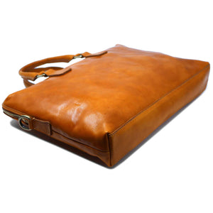 Floto Italian Leather Slim Briefcase Milano 4