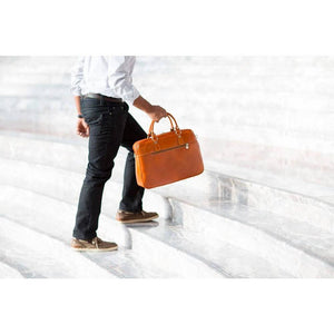 leather slim briefcase floto venezia