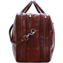 Load image into Gallery viewer, leather suitcase duffle bag floto
