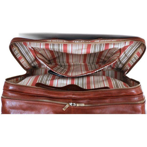 leather suitcase duffle bag floto