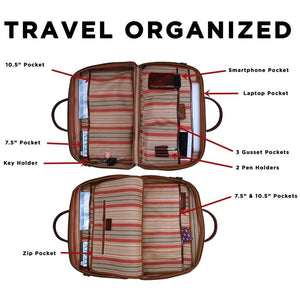 Leather Suitcase Duffel Bag Floto Venezia Tempesti inside organized