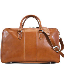 Load image into Gallery viewer, Floto Italian Leather Suitcase Duffel Bag Venezia Tempesti front