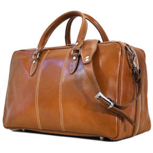 Load image into Gallery viewer, Floto Italian Leather Suitcase Duffel Bag Venezia Tempesti monogram 2