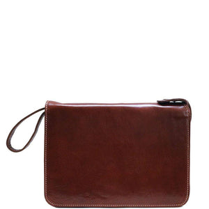 Floto leather tablet case portfolio padfolio brown
