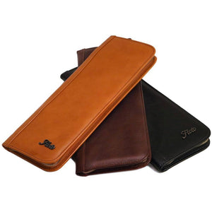 leather tie case floto olive, vecchio brown, and black floto