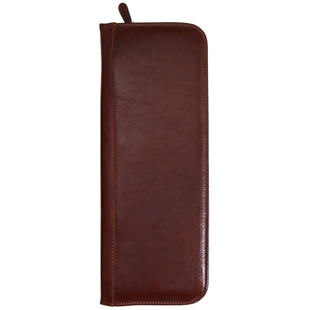leather tie case floto brown floto
