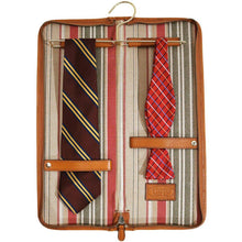 Load image into Gallery viewer, leather tie case floto olive brown floto