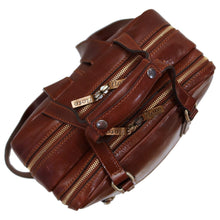Load image into Gallery viewer, Leather Backpack top handle bag Floto Firenze brown 3
