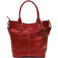 Load image into Gallery viewer, leather tote bag floto ischia red monogram