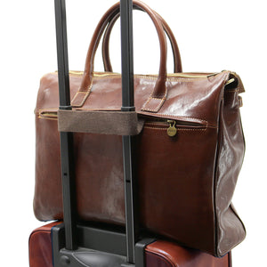 Floto Italian Leather Shoulder Tote Bag brown 9