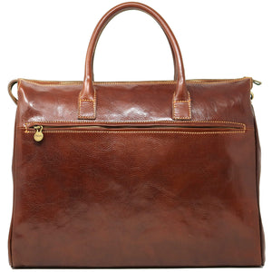 Floto Italian Leather Shoulder Tote Bag brown 3