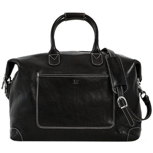 Leather Duffle Travel Bag Floto Chiara black monogram
