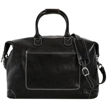 Load image into Gallery viewer, Leather Duffle Travel Bag Floto Chiara black