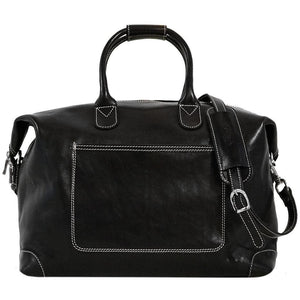 Leather Duffle Travel Bag Floto Chiara black