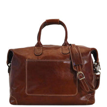 Load image into Gallery viewer, Leather Duffle Travel Bag Floto Chiara brown