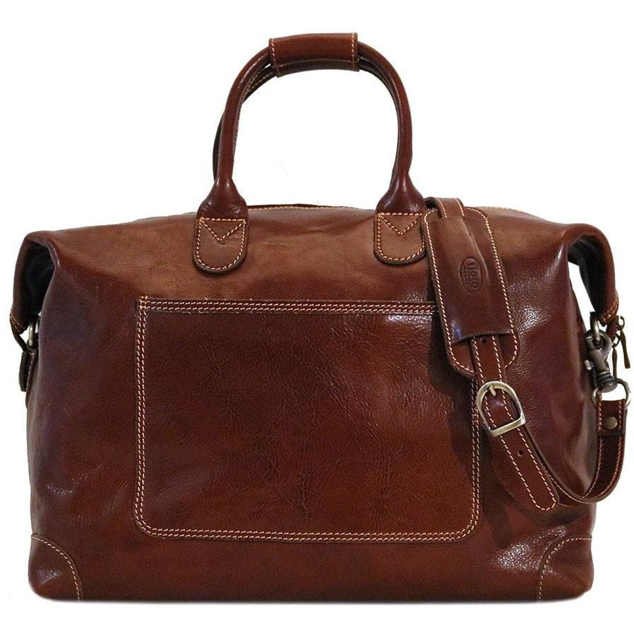 Leather Duffle Travel Bag Floto Chiara brown