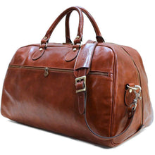Load image into Gallery viewer, Floto Italian Leather Gym Sport Duffle Bag Weekender brown 2