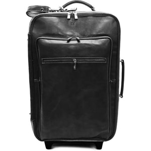 Leather Rolling Luggage Floto Venezia Trolley black monogram