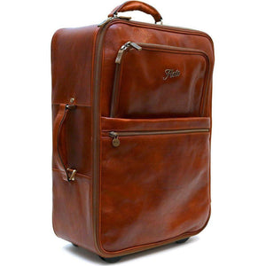 leather rolling luggage