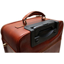 Load image into Gallery viewer, leather rolling duffle bag floto