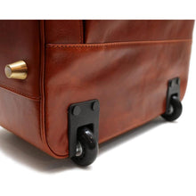 Load image into Gallery viewer, leather rolling luggage