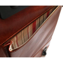 Load image into Gallery viewer, leather rolling duffle bag trolley floto