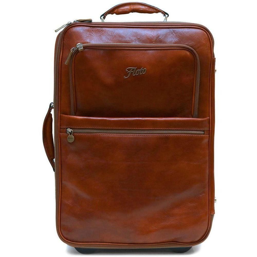 leather rolling luggage floto